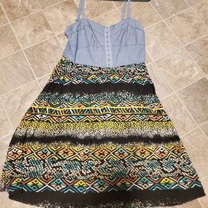 Juniors No Boundaries multi-color dress size Large